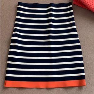 BCBG striped knit skirt